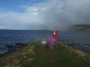rainbow Broch of Gurness Orkney Islands