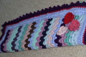 granny stripe blanket side