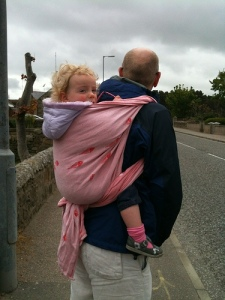 babywearing daddy father carmin rose