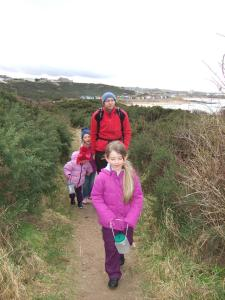The path up from the Hopeman beach huts