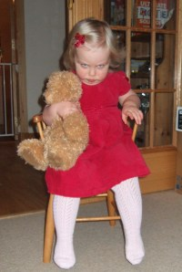 Midi Minx at 22 months old, Dec 2009. Not much has changed since.