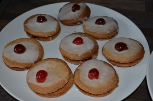 plate of iced empire biscuits