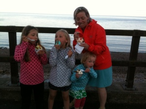 Ice-cream from Aunty Betty's. Tasty, creamy, fun.