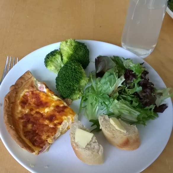 My first quiche lorraine - easy, tasty and popular. And from the Glasgow Cookery Book..!