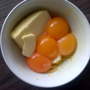 All my favourite things start with creamy butter, tangy lemon rind and egg yolk.