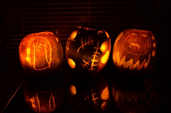 The minxes drew them; The Boss carved them. I think they were really trying to test him this year