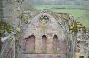 Melrose Abbey wall