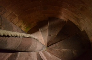 Melrose Abbey spiral staircase