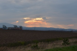 view towards Edinburgh from near Dalkeith