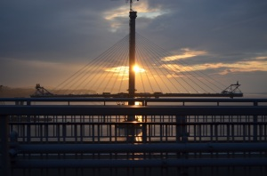section of the new Forth Road bridge under construction