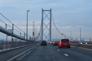 view of the current Forth Road bridge