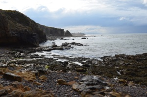 View from the cave back towards Burghead