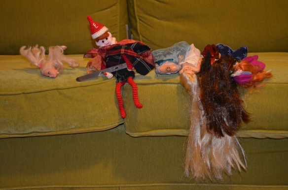 elf on the shelf in doll massacre