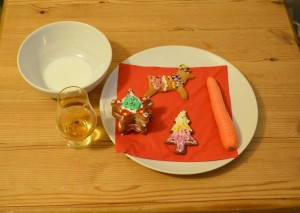Santa and Rudolph's treats